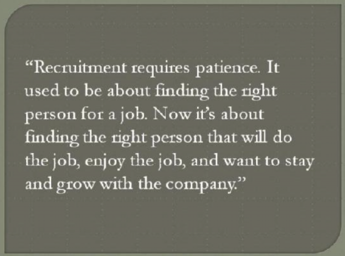 Recruiter Today or Are you Yesterday?